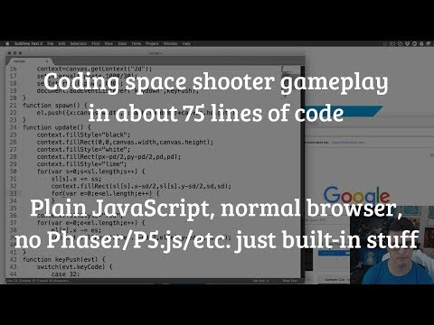 Space shooter gameplay in about 75 lines of code