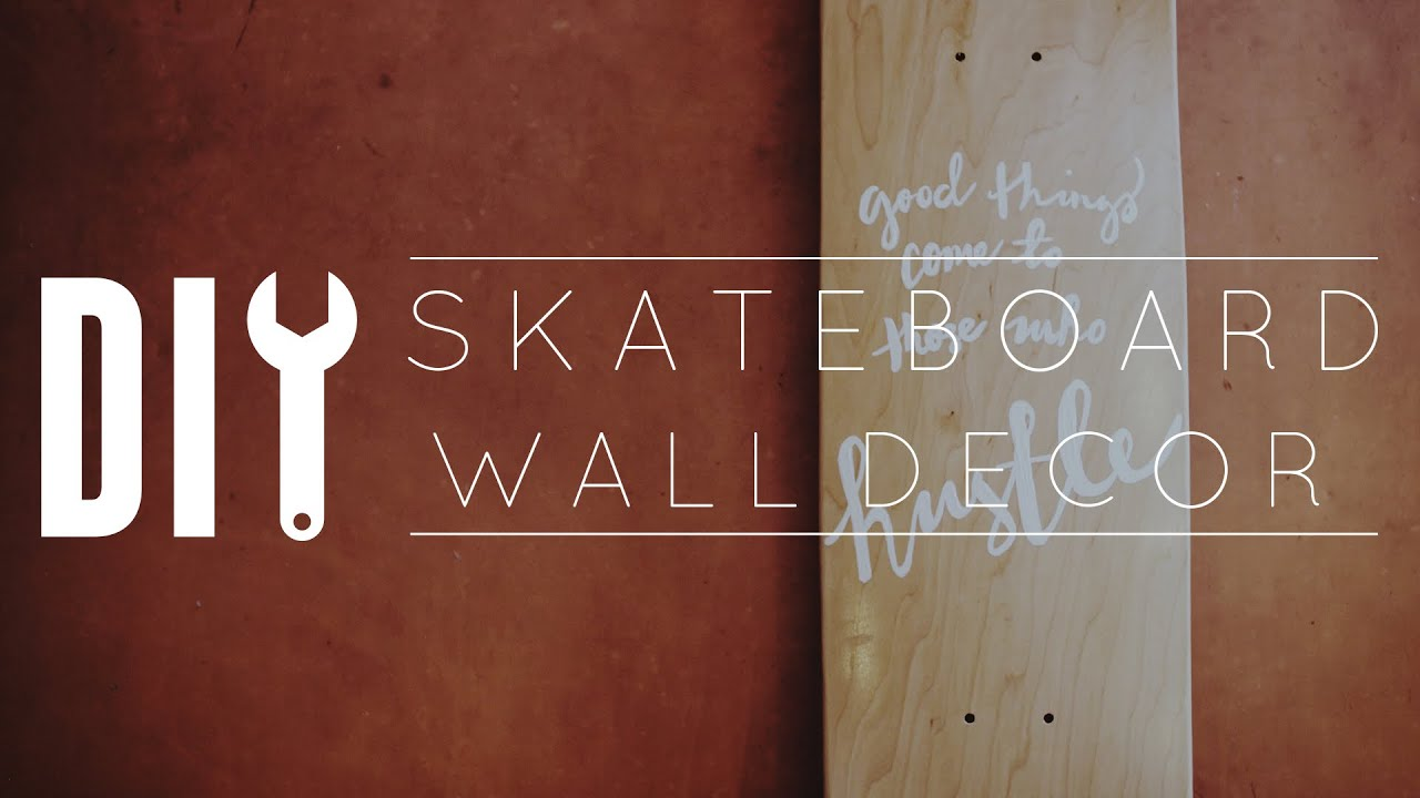 Diy skateboard wall decor youtube amipublicfo Images