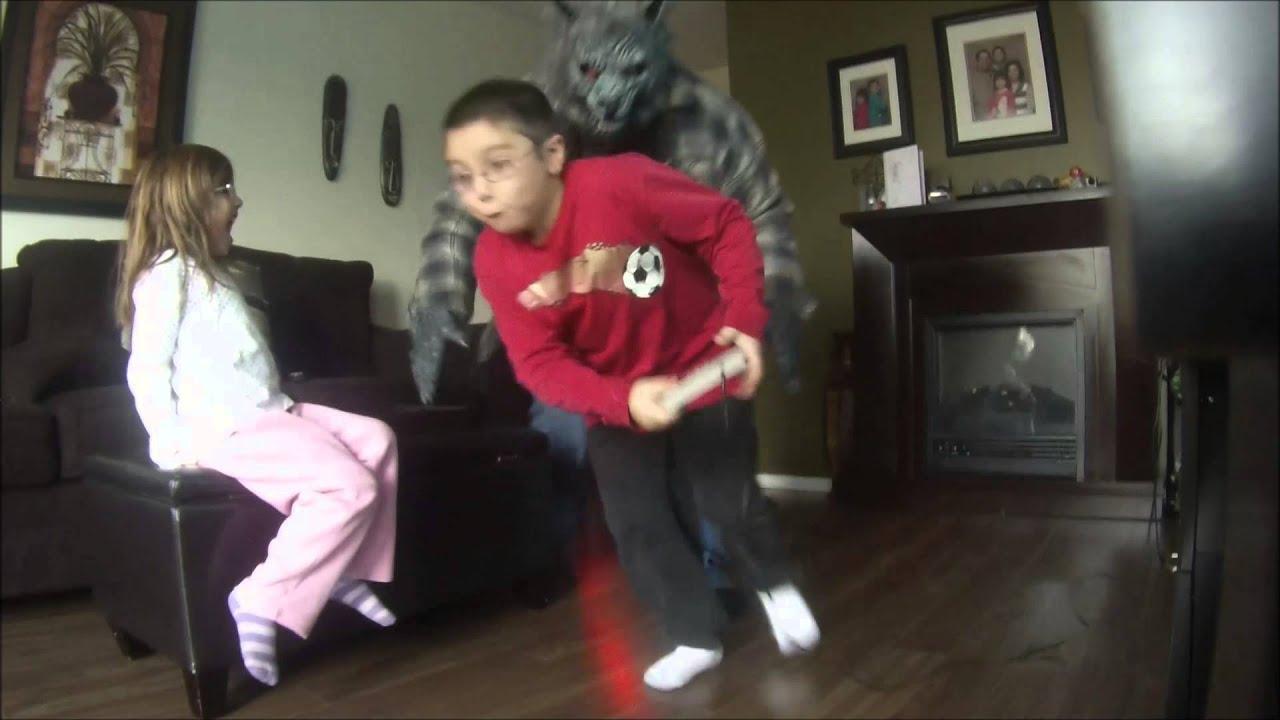 Elegant SLO MO VERSION Scare Prank   Werewolf In The Livingroom Part 13