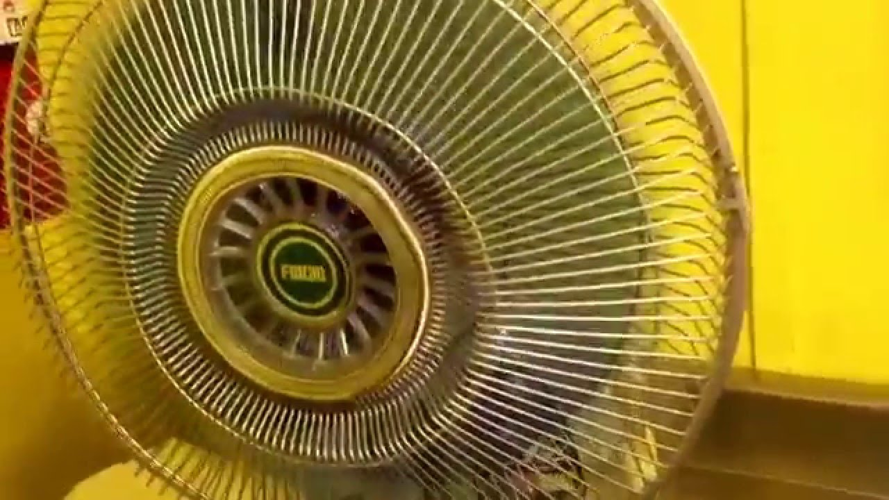 First Electric Fan : Quot blue frigid desk fan youtube