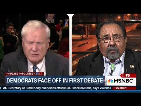Raul Grijalva Plays Hardball After the First 2016 Democratic Presidential Debate