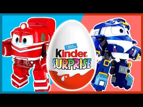 Мультик. Роботы. Поезда. Киндер сюрприз. Robot Trains. Kinder Surprise. 로봇트레인