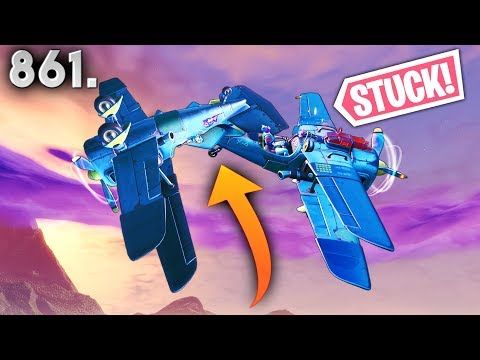 *never seen* DOUBLE PLANE TRICK! - Fortnite Funny WTF Fails and Daily Best Moments Ep. 861