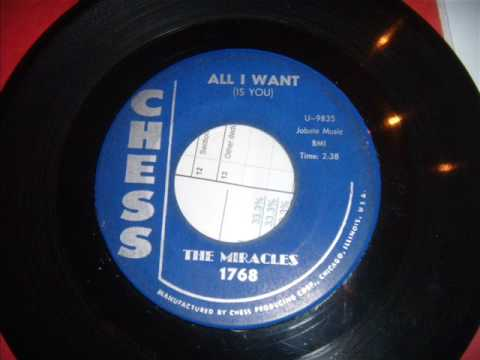 Miracles - All I Want Is You - Classic Doo Wop Ballad - Very Early Miracles / Motown