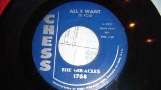 miracles all i want is you classic doo wop ballad very early miracles motown