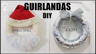 Guirlanda do Papai Noel e Guirlanda Espelhada