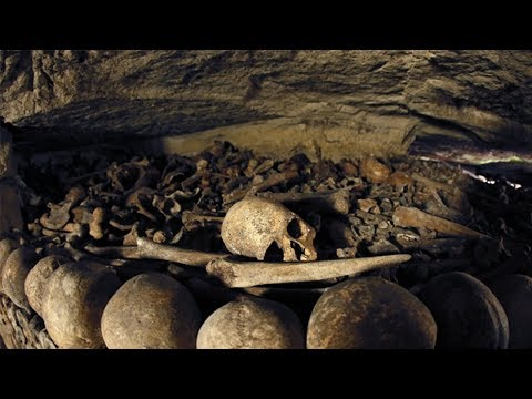 Paris Catacombs Exploration SECRET ROOMS (FOUND HUMAN BONES)
