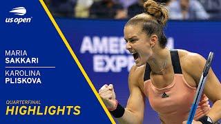 Maria Sakkari vs Karolina Pliskova Highlights | 2021 US Open Quarterfinal