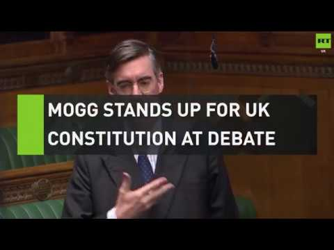 Mogg stands up for UK's constitution at debate