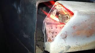 запуск автоматический розжиг пеллетной горелки от автомобильной свечи накала, ардуино контроллер