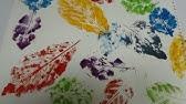 فن طباعة الاوراق رسم بأوراق الشجر Youtube