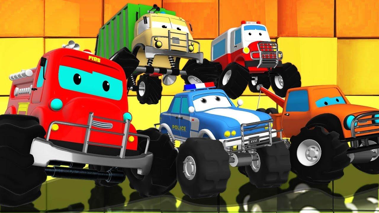 We Are The Monster Trucks Road Rangers Cartoon Videos For Children Youtube