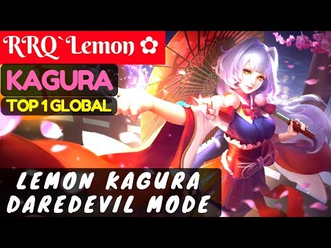 Lemon Kagura Daredevil Mode [Top Global 1 Kagura] | RRQ`Lemon ✿ Kagura Gameplay #25 Mobile Legends