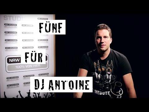 Fünf für DJ Antoine - das Interview ohne Fragen