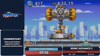 Sonic Advance 3 by JustFruitSalad in 1:18:48 - Sonic and the Shiny Things