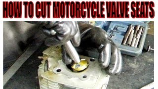 How to cut motorcycle valve seats.