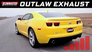 2010 2013 camaro ss flowmaster outlaw series cat back exhaust system 817556