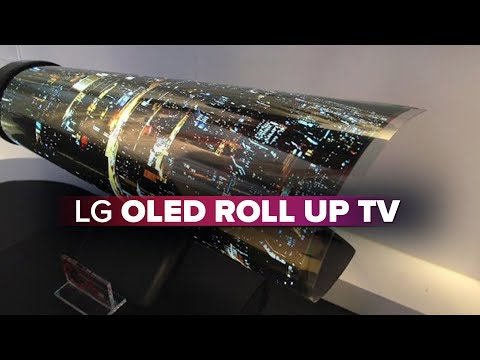 cee03b5d20c4 LG OLED TV rolls up like a piece of paper - YouTube