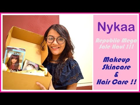 Nykaa Republic Mega Sale Haul - Jan 2018 |Makeup , Skin Care and More |Beautyandthecode