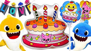 Baby Shark and mommy shark, Daddy shark! Let's prepare PinkFong birthday | PinkyPopTOY