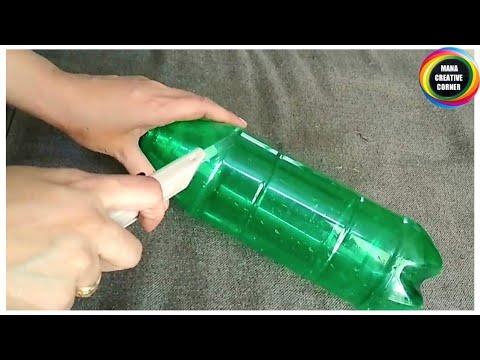 #Waste Plastic Bottle craft idea easy DIY#DIY Flower vase with Plastic Bottle #Best out of waste#