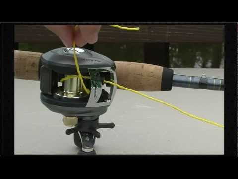 how to put line on a baitcaster