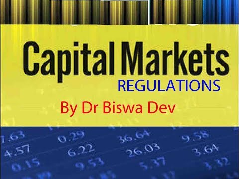 Regulations on Stock Exchange by Dr Biswa Dev