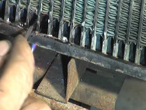 Ремонт трубок при снятом бачке радиатора