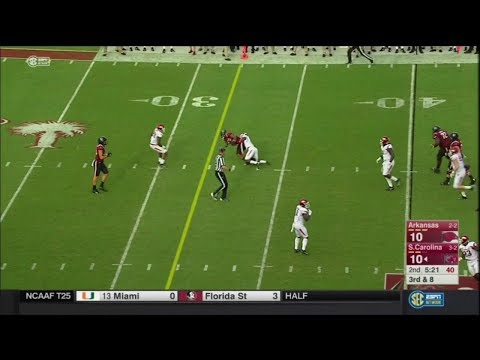 2017 USC vs Arkansas - AJ Turner 9 Yd Reception