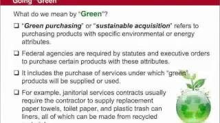 GSA Training: Buy Green - 1 of 6