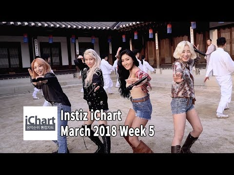 Top 20 Instiz iChart Sales Chart - March 2018 Week 5