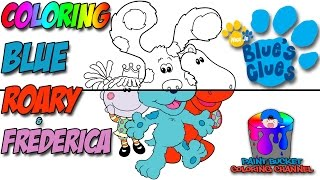 How to Color Blue, Roary and Frederica - Nick Jr. Blue