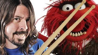 DRUM OFF - Foo Fighters' Dave Grohl vs The Muppets' Animal