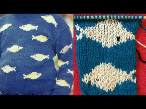 Fish Woolen Design How To Make Sweater For Kids Bacho Ka Sweater