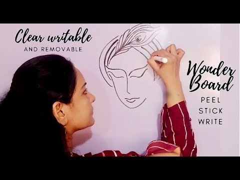 Clear Writable Wonder Board Film| Easy Removable wall Painting | wall Art painting |Switchboard art