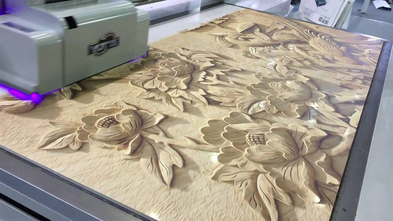 Uv Led 3d Floor Panel Flatbed Digital Printer 3d Wall
