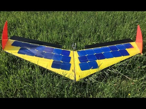 Record Solar Flight 6 Hours 200km Rc Plane Fpv