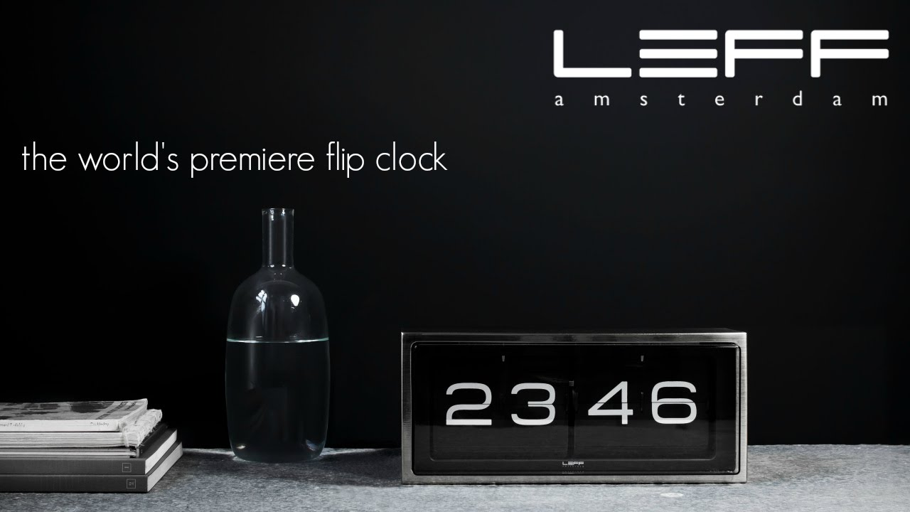 The Brick Series Flip Clock By LEFF Amsterdam   Background And Review Idea