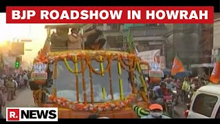 West Bengal Election 2021: MP CM Shivraj Singh Chouhan Holds Roadshow In Howrah