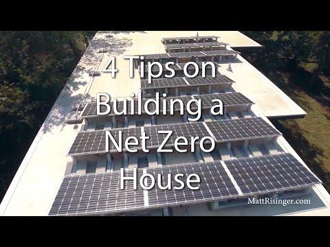 Net Zero House - 4 Tips for Design & Construction
