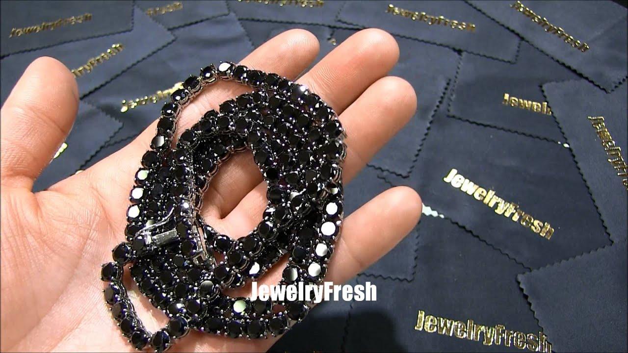 VVS Flawless Black Lab Diamond 115 Carat Chain by Jewelry Fresh