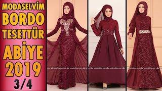 967955fcdafd3 Modaselvim #Bordo #Tesettür Abiye #Elbise Modelleri 2019 - 2/4 ...
