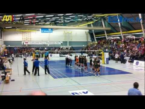 9.1.13 VC Wiesbaden-MTV Stuttgart 1.Bundesliga Erster Satz