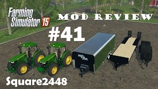 Farming Simulator 2015 Mod Review #41 John Deere Tractors & Trailers