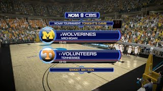 March Madness 2014: Michigan (2) vs Tennessee (11) Sweet Sixteen - Midwest Region Sim