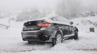Why you should always turn BMW's DSC | DTC completely OFF in DEEP SNOW (20% SLOPE) | xDrive | BMW X6