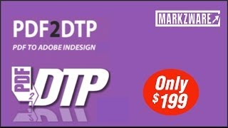 PDF2DTP Convert PDF to InDesign demo