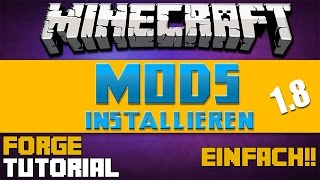 Minecraft 1.8.8 - Mods Installieren-Tutorial (German)|Minecraft Forge Setup-Windows+Mac [GERMAN]