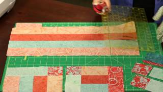 "How To Make Quilting Quickly's ""tempo"" Table Runner: Bright Spring Colors And Simple, Fast Piecing"